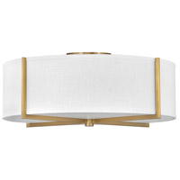 Hinkley 41710HB Galerie Axis LED 26 inch Heritage Brass Semi-Flush Mount Ceiling Light