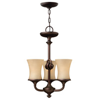 Thistledown 3 Light 15 inch Victorian Bronze Chandelier Ceiling Light