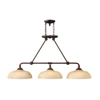 Thistledown 3 Light 47 inch Victorian Bronze Chandelier Ceiling Light