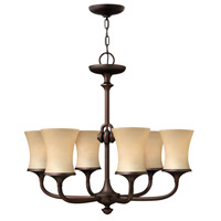 Thistledown 6 Light 27 inch Victorian Bronze Chandelier Ceiling Light