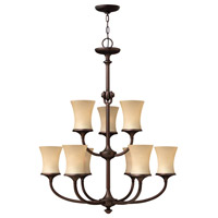 Hinkley 4178VZ Thistledown 9 Light 31 inch Victorian Bronze Chandelier Ceiling Light, 2 Tier