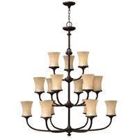 Hinkley 4179VZ Thistledown 15 Light 42 inch Victorian Bronze Chandelier Ceiling Light, 3 Tier