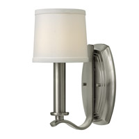 Clara 1 Light 6 inch Brushed Nickel Sconce Wall Light