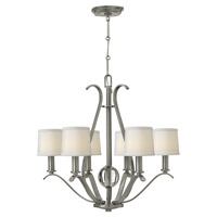 Hinkley Lighting Clara 6 Light Chandelier in Brushed Nickel 4186BN