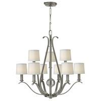 Clara 9 Light 33 inch Brushed Nickel Chandelier Ceiling Light