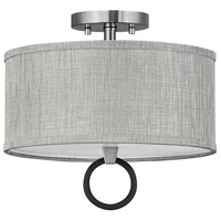 Hinkley 41905BN Link LED 13 inch Brushed Nickel/Black Semi-flush Ceiling Light Galerie