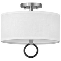 Hinkley 41906BN Link LED 13 inch Brushed Nickel/Black Semi-flush Ceiling Light Galerie