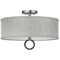 Hinkley 41907BN Link LED 18 inch Brushed Nickel/Black Semi-flush Ceiling Light Galerie