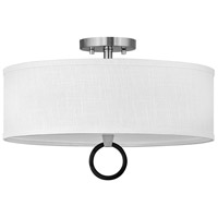 Hinkley 41908BN Link LED 18 inch Brushed Nickel/Black Semi-flush Ceiling Light Galerie