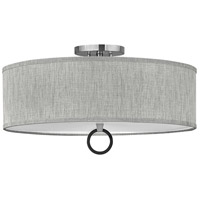 Hinkley 41909BN Link LED 24 inch Brushed Nickel/Black Semi-flush Ceiling Light Galerie