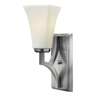 Spencer 1 Light 5 inch Brushed Nickel Sconce Wall Light, Etched Opal Glass