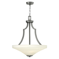 Spencer 4 Light 20 inch Brushed Nickel Foyer Ceiling Light in Etched Opal, Etched Opal Glass