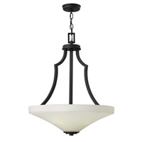 Spencer 4 Light 20 inch Textured Black Foyer Ceiling Light in Etched Painted White Inside