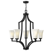Hinkley Lighting Spencer 5 Light Chandelier in Textured Black 4195TB