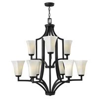 Spencer 9 Light 32 inch Textured Black Chandelier Ceiling Light