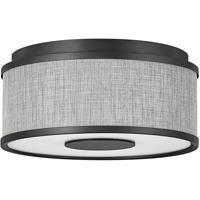 Hinkley 42005BK Galerie Halo LED 13 inch Black Flush Mount Ceiling Light