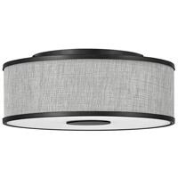 Hinkley 42007BK Galerie Halo LED 18 inch Black Flush Mount Ceiling Light