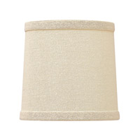 Everly Light Beige 5 inch Shade, Crystal Bobeches
