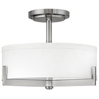 Hayes 3 Light 16 inch Brushed Nickel Foyer Semi-Flush Mount Ceiling Light