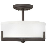 Hayes 3 Light 16 inch Oil Rubbed Bronze Foyer Semi-Flush Mount Ceiling Light