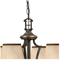 Hinkley 4246OB Plymouth 6 Light 28 inch Olde Bronze Foyer Chandelier Ceiling Light in Ivory Silk Shades alternative photo thumbnail