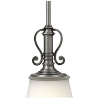 Hinkley 4247PL Plymouth 1 Light 7 inch Polished Antique Nickel Mini-Pendant Ceiling Light, Silver Organza Shade with Decorative Fabric Trim alternative photo thumbnail