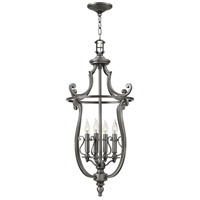 Hinkley 4254PL Plymouth 4 Light 18 inch Polished Antique Nickel Foyer Ceiling Light