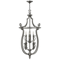 Hinkley 4258PL Plymouth 8 Light 24 inch Polished Antique Nickel Foyer Ceiling Light