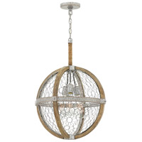 Hinkley 4274WZ Heywood 3 Light 19 inch Weathered Zinc Chandelier Ceiling Light