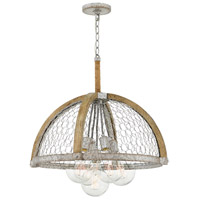 Heywood 5 Light 25 inch Weathered Zinc Chandelier Ceiling Light