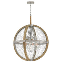Hinkley 4276WZ Heywood 5 Light 25 inch Weathered Zinc Chandelier Ceiling Light
