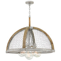 Hinkley 4278WZ Heywood 7 Light 31 inch Weathered Zinc Chandelier Ceiling Light
