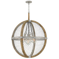 Heywood 7 Light 31 inch Weathered Zinc Chandelier Ceiling Light