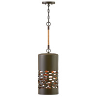 Hinkley 4287OZ Calder 1 Light 8 inch Oil Rubbed Bronze with Heritage Brass Accents Pendant Ceiling Light