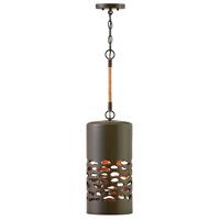 Hinkley 4287OZ Calder 1 Light 8 inch Oil Rubbed Bronze/Heritage Brass Pendant Ceiling Light