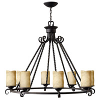 Hinkley 4308OL Casa 8 Light 37 inch Olde Black Chandelier Ceiling Light