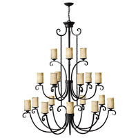 Hinkley 4309OL Casa 18 Light 56 inch Olde Black Foyer Chandelier Ceiling Light, 3 Tier