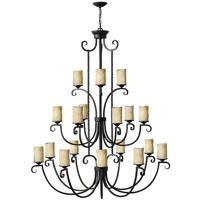 Hinkley 4309OL Casa 18 Light 56 inch Olde Black Foyer Chandelier Ceiling Light 3 Tier