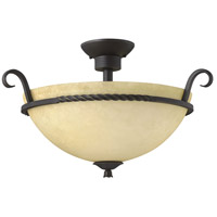 Hinkley Lighting Casa 3 Light Semi Flush in Olde Black 4311OL