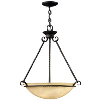 Hinkley 4314OL Casa 4 Light 27 inch Olde Black Hanging Foyer Ceiling Light in Incandescent