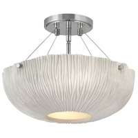 Hinkley 43203SHW Coral 3 Light 17 inch Shell White with Polished Nickel Accents Foyer Light Ceiling Light