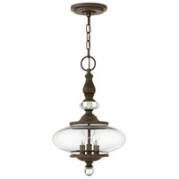 Hinkley 4323OZ Wexley 3 Light 12 inch Oil Rubbed Bronze Chandelier Ceiling Light photo thumbnail