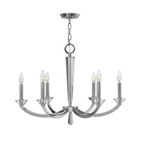 Hendrick 6 Light 28 inch Chrome Chandelier Ceiling Light
