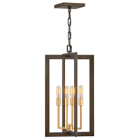 Hinkley 4343MM Anders 4 Light 12 inch Metallic Matte Bronze with Deluxe Gold Accents Foyer Light Ceiling Light, Open Frame