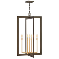 Anders 5 Light 22 inch Metallic Matte Bronze with Deluxe Gold Accents Chandelier Ceiling Light, Open Frame