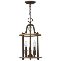 Hinkley 4353LZ Elaine 3 Light 10 inch Light Oiled Bronze Foyer Ceiling Light