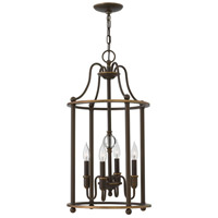 Hinkley 4354LZ Elaine 4 Light 14 inch Light Oiled Bronze Foyer Chandelier Ceiling Light