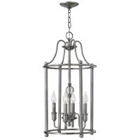 Hinkley 4354PL Elaine 4 Light 14 inch Polished Antique Nickel Foyer Chandelier Ceiling Light