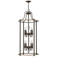 Hinkley 4358LZ Elaine 8 Light 19 inch Light Oiled Bronze Foyer Chandelier Ceiling Light