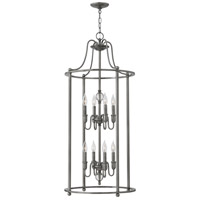 Hinkley 4358PL Elaine 8 Light 19 inch Polished Antique Nickel Foyer Chandelier Ceiling Light